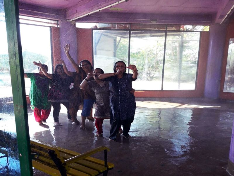 Rain Dance Activity at Mantra Resorts near Pune