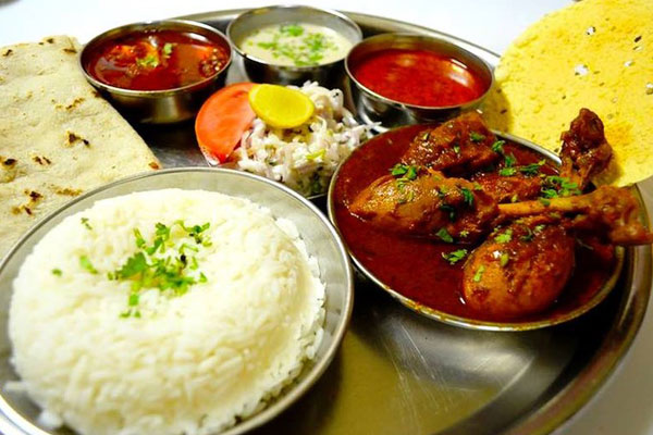 Bhartiya Non veg Thali at Mantra Resort pune