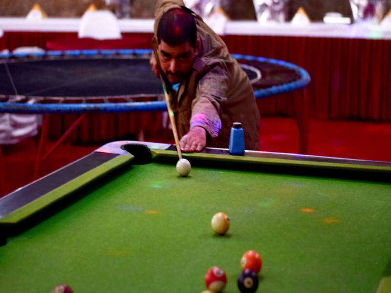 pool table game at Mantra Resorts near Pune
